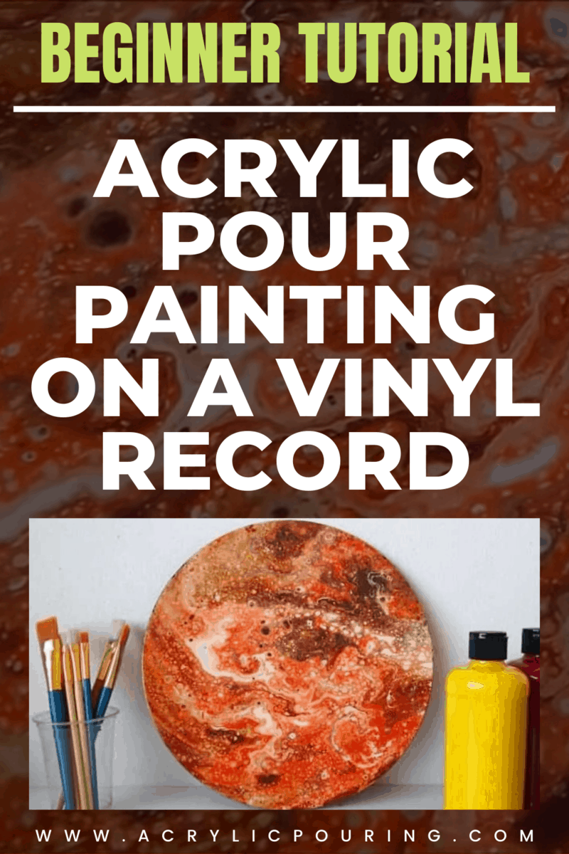 Make your acrylic pouring on a vinyl record perfectly done by learning some vinyl record painting tutorials. #acrylicpouring #vinylcanvas #vinylpouring #pouringtutorial
