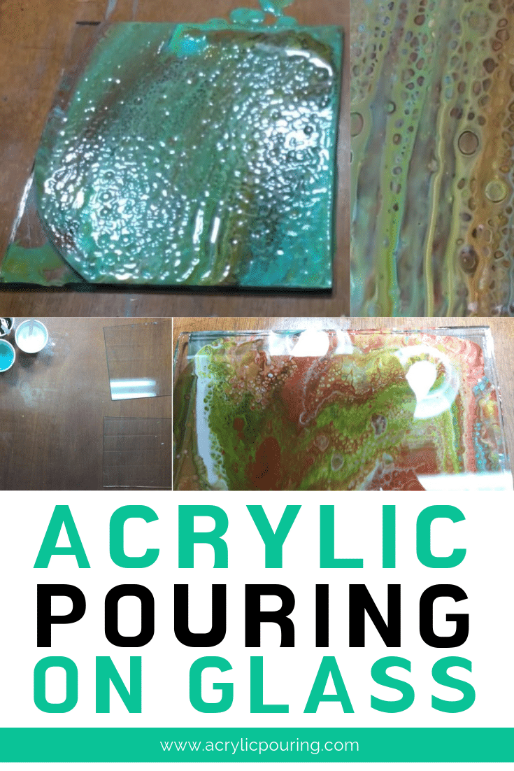 Make your artworks more creative by trying out acrylic pouring on glass.