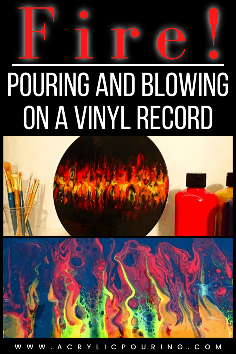 Fire! Pouring and Blowing on a Vinyl Record