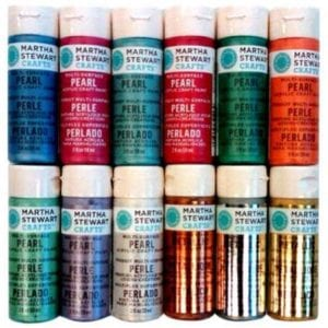 Martha Stewart Acrylic Craft Paint Set (2-Ounce) Metallic and Pearl