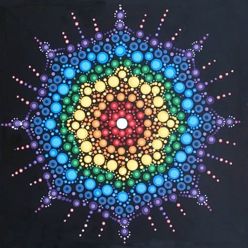 Dot painted mandala