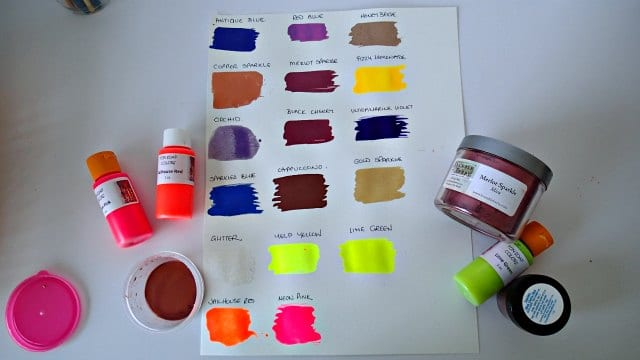 Mixing my own paint using micas and liquid soap colorants