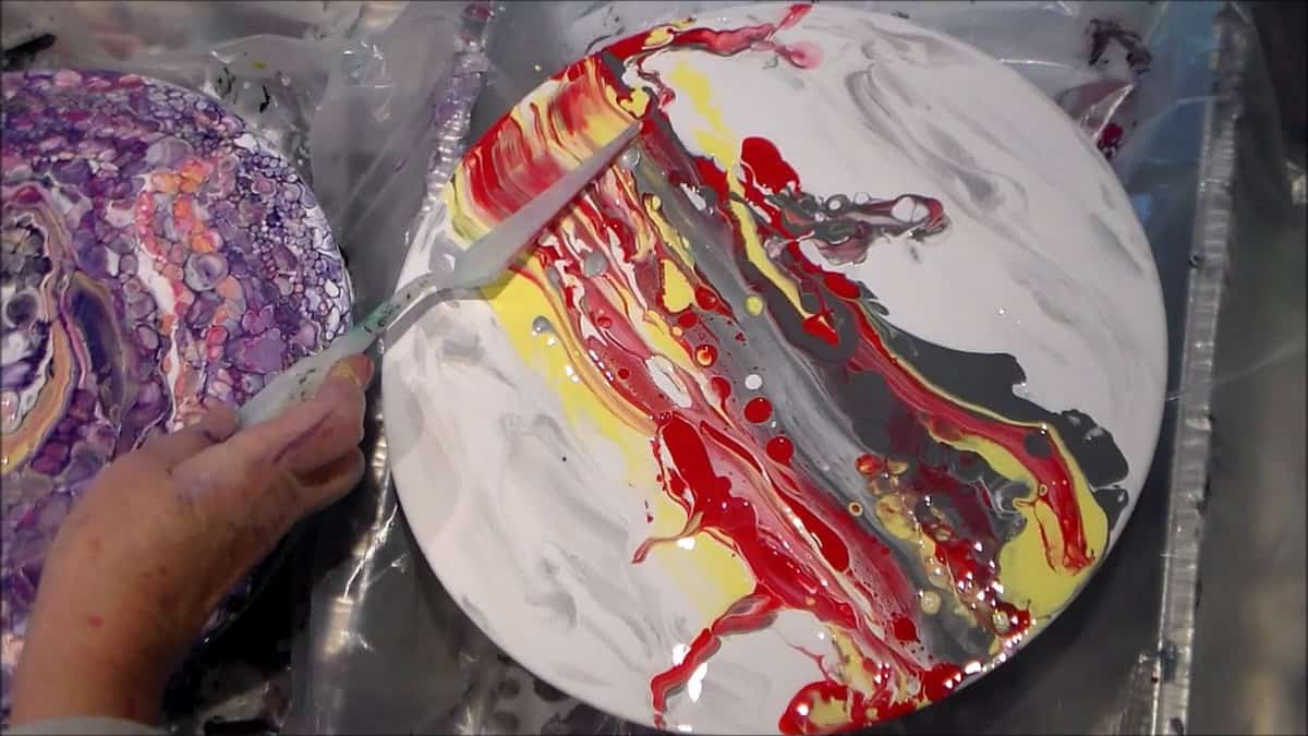 Acrylic Pouring Swipe Recipe With Lots Of Cells