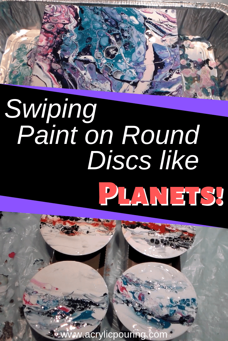 Swiping Paint on Round Discs like Planets!