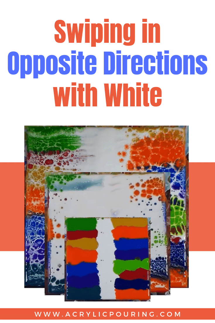 Swiping in Opposite Directions with White