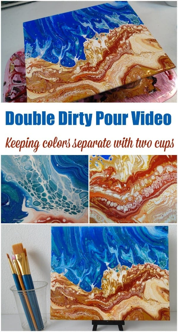 Doing A Double Dirty Pour At The Beach Acrylicpouring Com