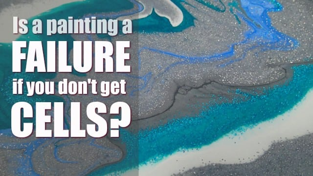 Do you have to get cells in an acrylic pour for it to be a good painting Of course not and here are some glorious examples of why cells aren't everything!