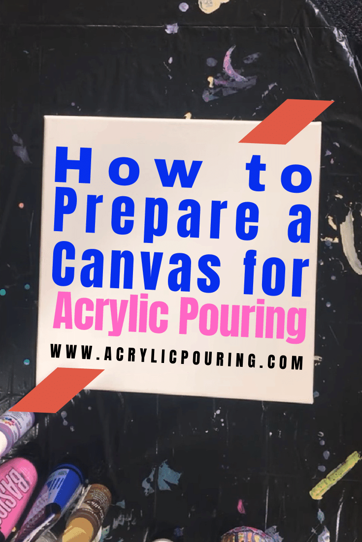 How to Prepare a Canvas for Acrylic Pouring