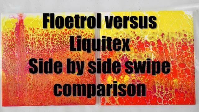 Floetrol and Liquitex Pouring Medium compared side by side in this swipe test video. Which is your favorite pouring medium foro acrylic pouring and why?