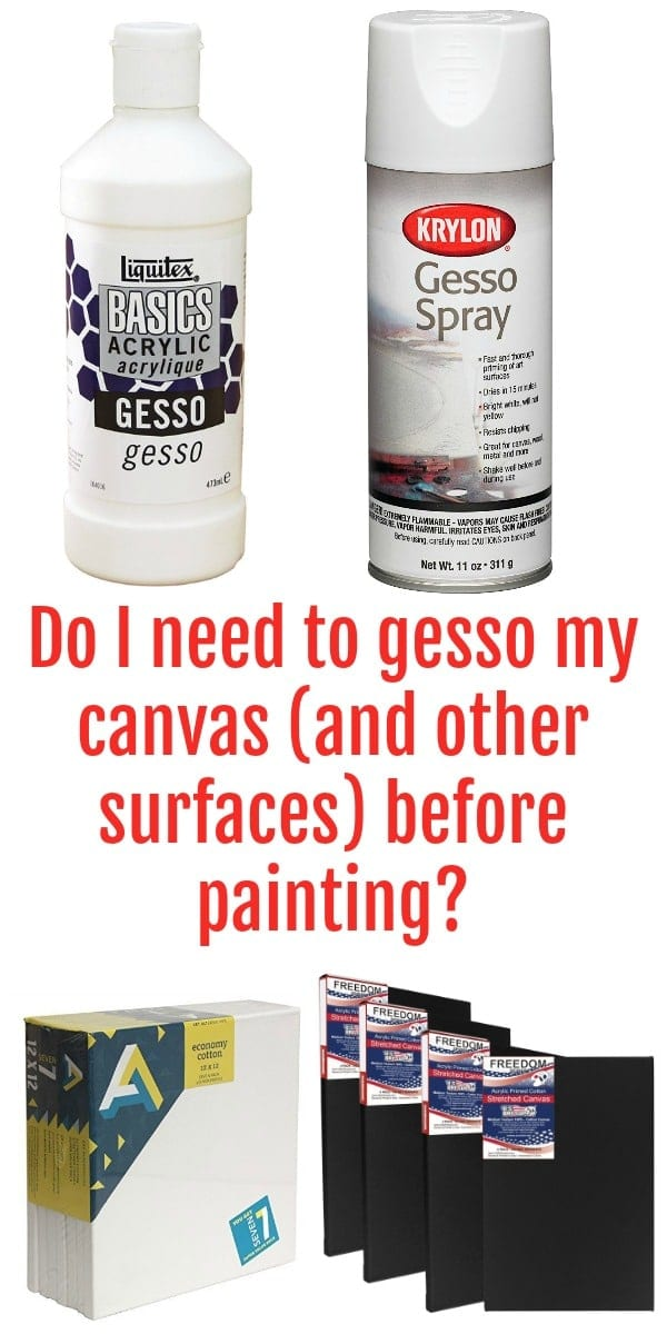 Do I Need To Gesso My Canvases And Other Surfaces Before Painting With Acrylic Paints Or