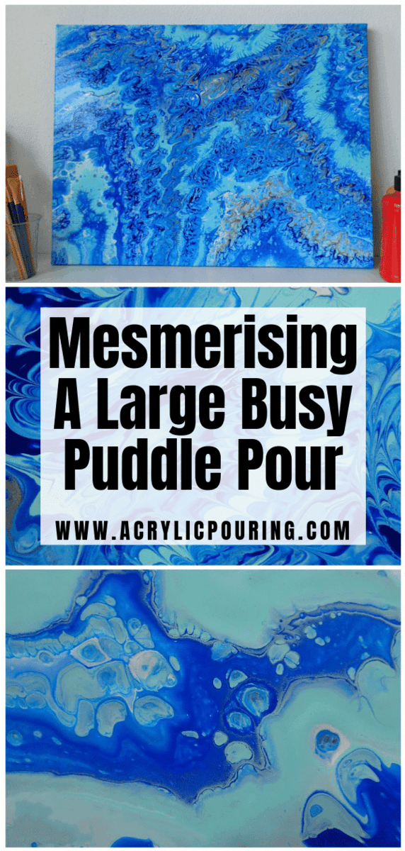 Mesmerising - a Large Busy Puddle Pour