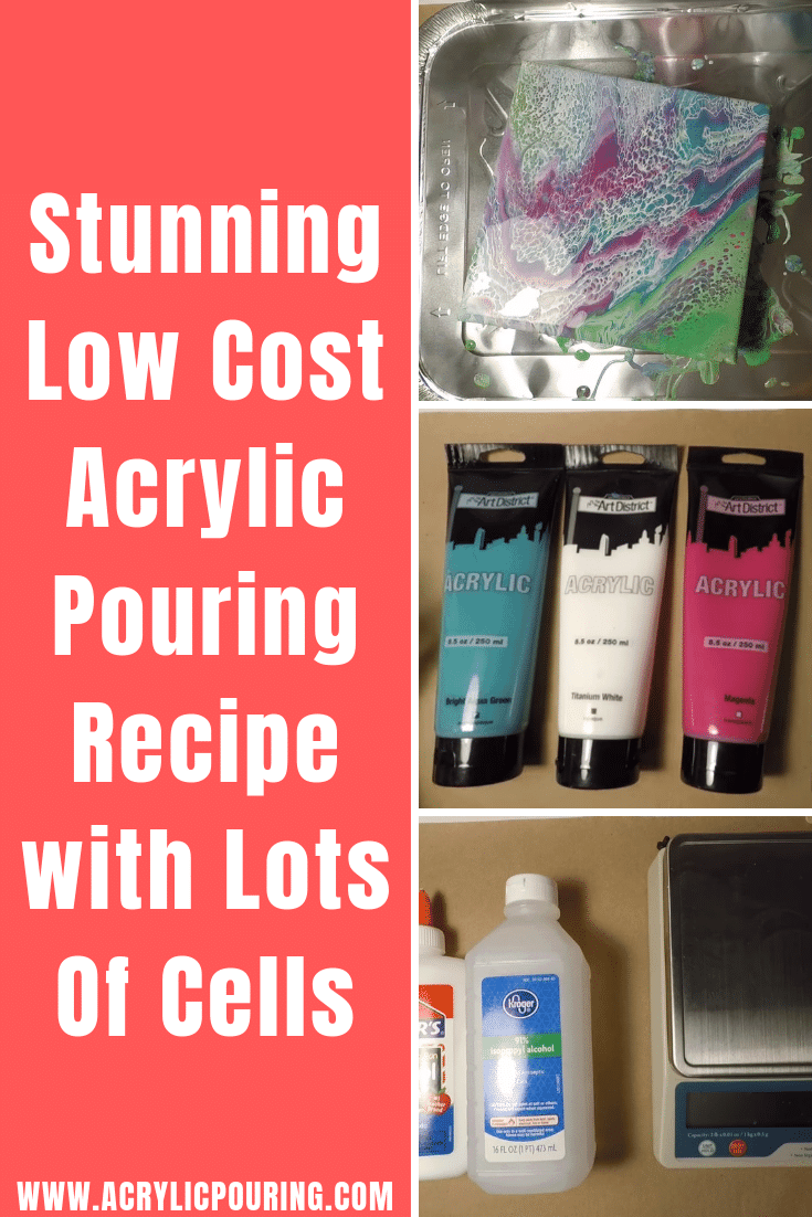 Discover some low-cost recipes in acrylic pouring on making cells. #acrylicpouringproducts #productsreview #budget #artonabudget