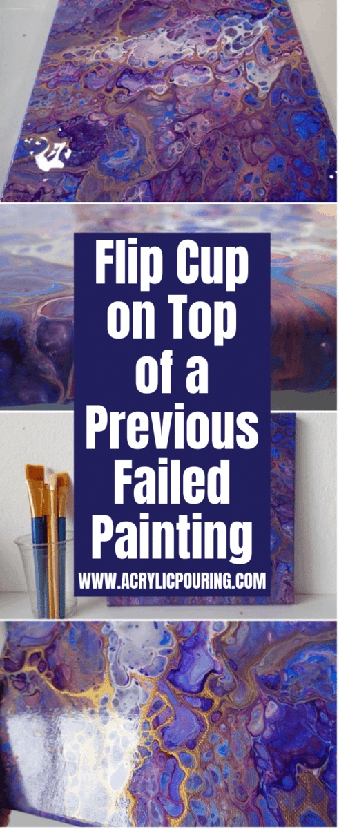 Flip Cup on Top of a Previous Failed Painting