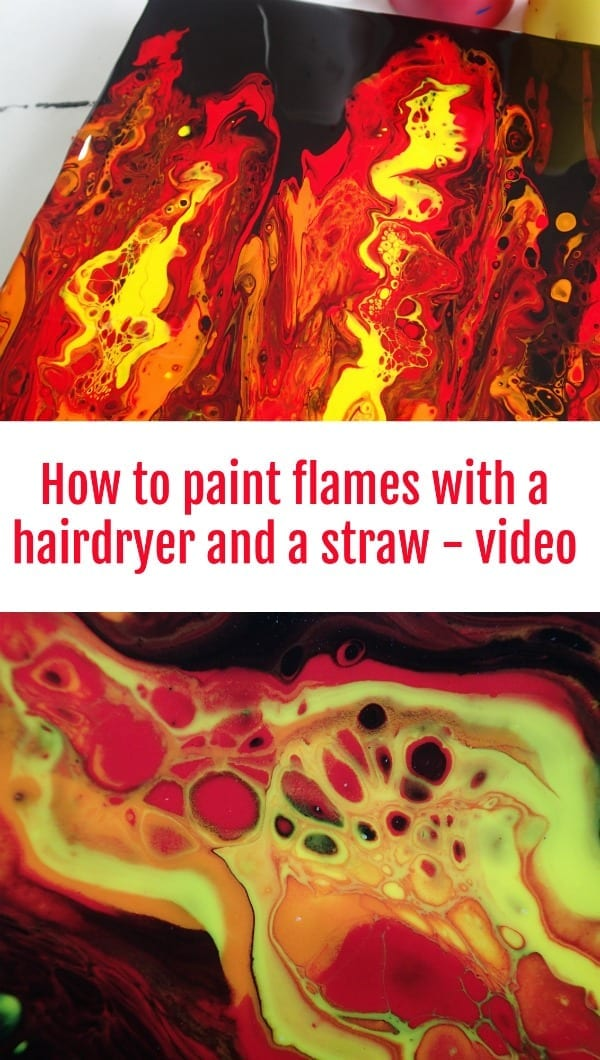 Playing With Fire And A Hairdryer For Acrylic Pouring