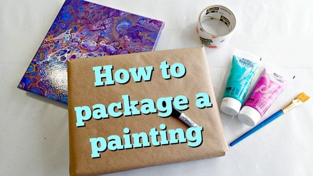 How To Package A Painting To Send In The Mail Acrylic