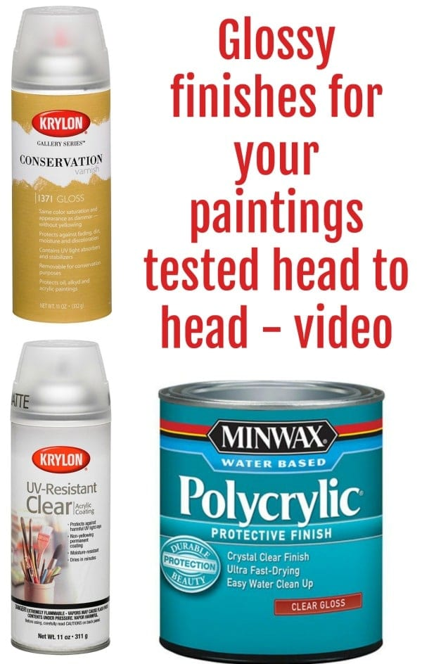 Video comparison and testing of different glossy protective finishes for your acrylic paintings.