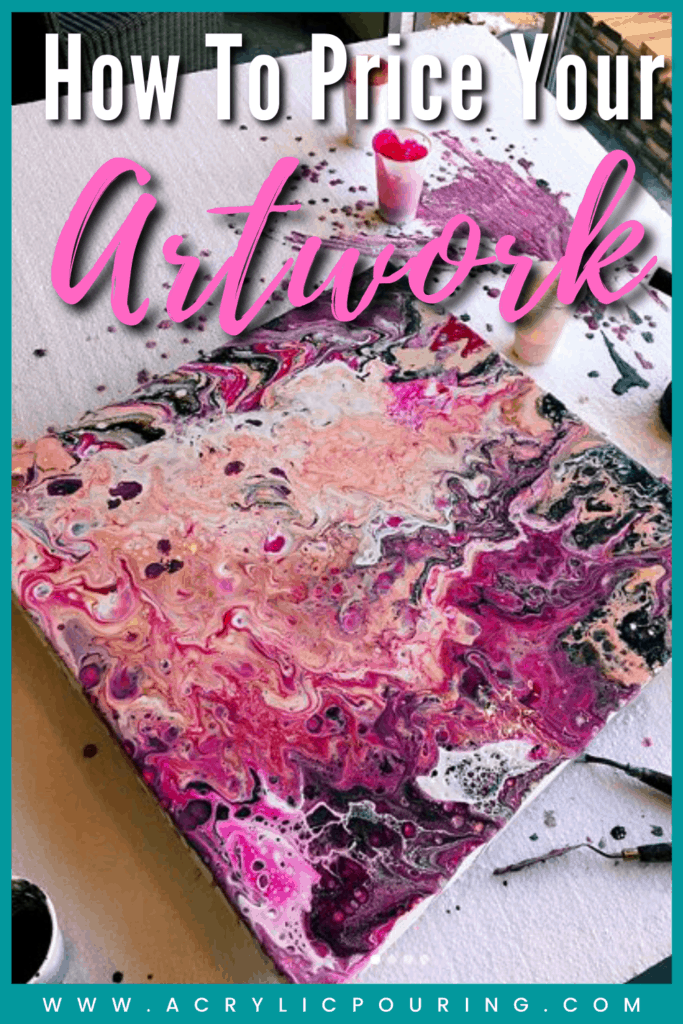 The more you are aware of market forces in general, and how people respond to your art in particular, the better prepared you are to maintain sensible selling prices and to maximize your sales. #acrylicpouring #paintings #acrylicprice #marketvalue