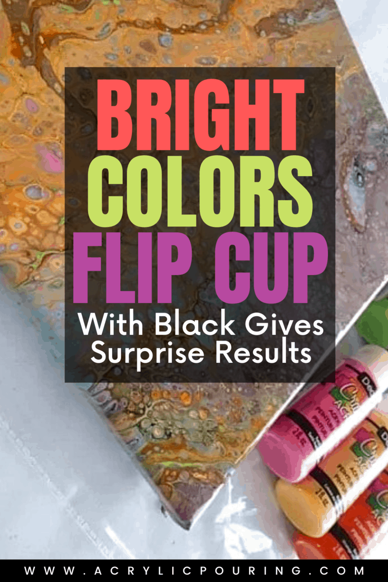 Bright Colors Flip Cup with Black Gives Surprise Results