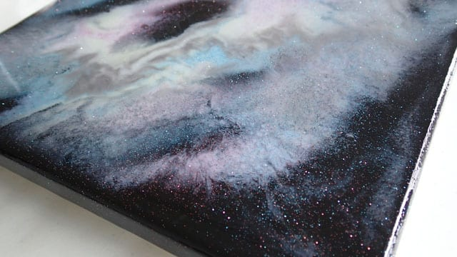 My First Resin Painting And Lots Of Glitter