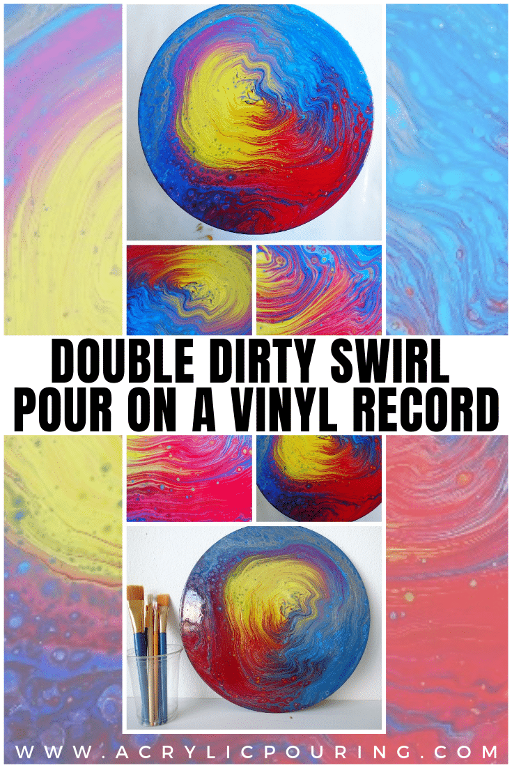Double Dirty Swirl Pour on a Vinyl Record