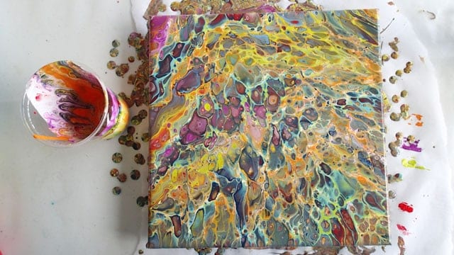 Decoart Acrylic Dirty Pour Repour Of A Fallen Painting