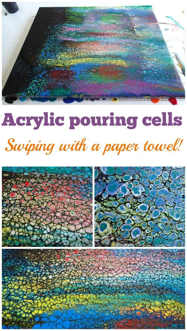 Swiping technique video. Swiping with a paper towel to make cells in your acrylic <a href=
