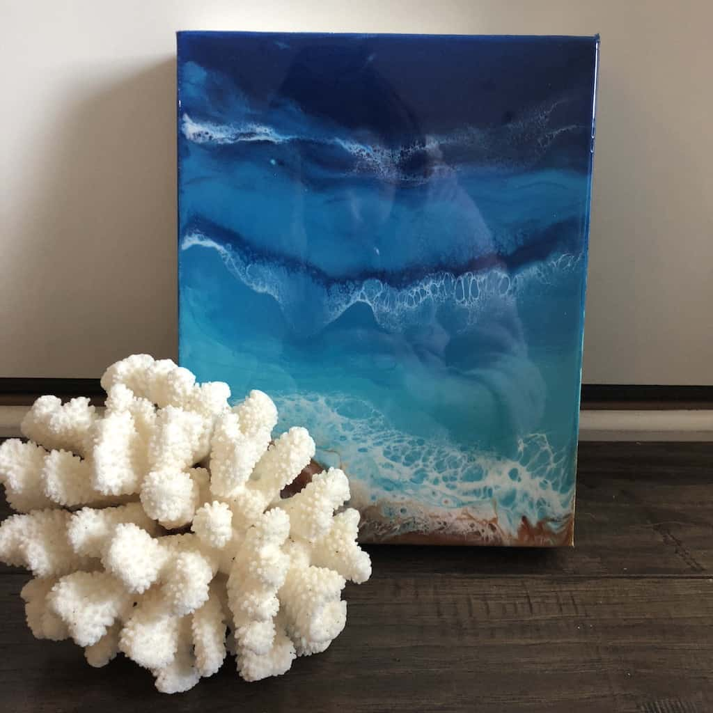 ann upton beach waves painting