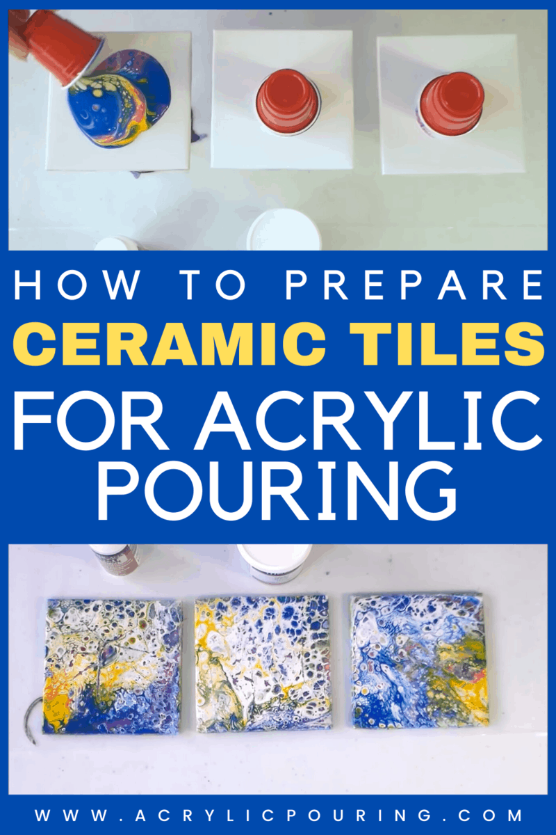 How to Prepare Ceramic Tiles for Acrylic Pouring