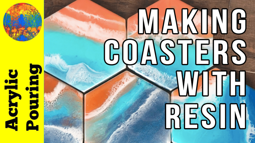resin coasters pouring video
