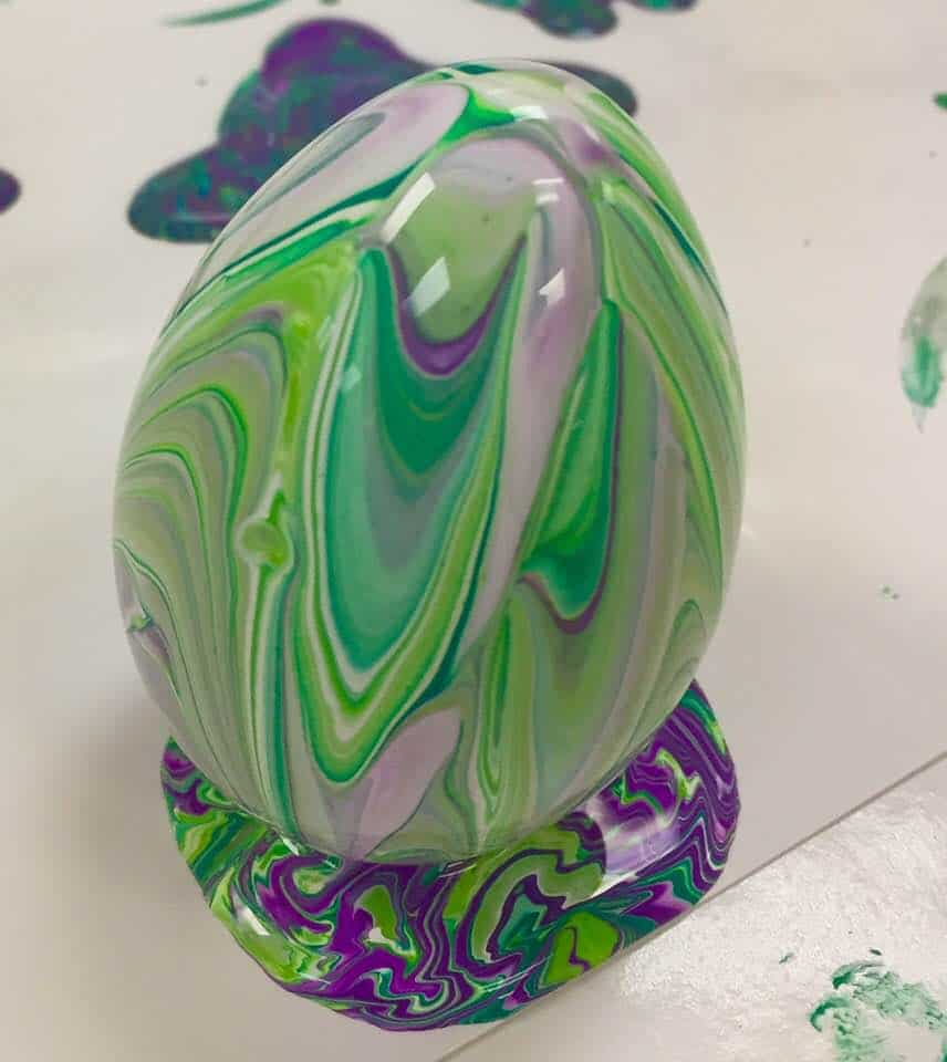 Green and purple easter egg