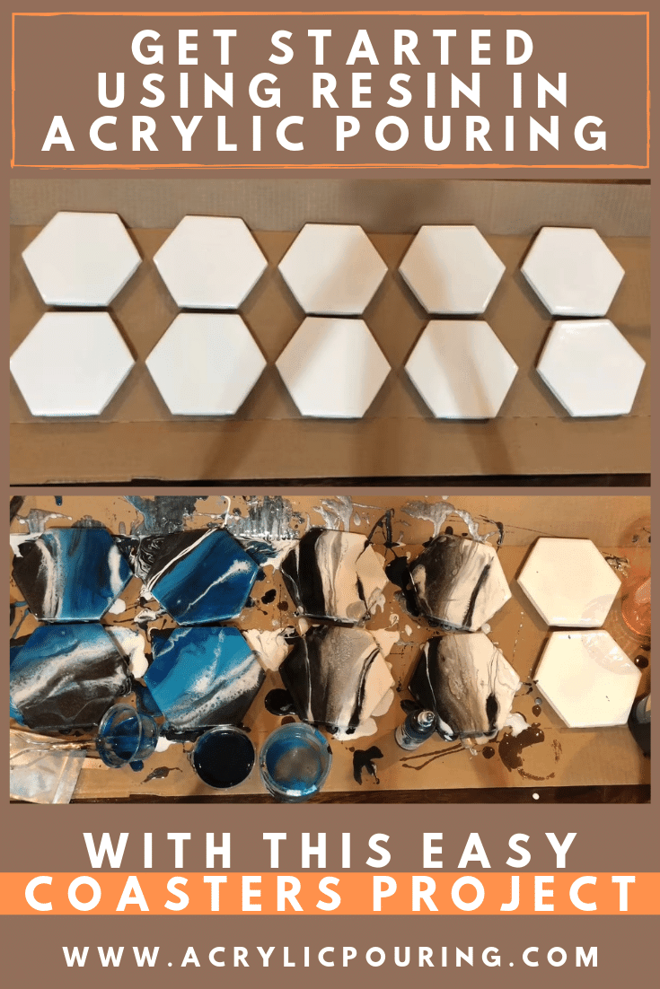 Get Started Using Resin in Acrylic Pouring With This Easy Coasters Project