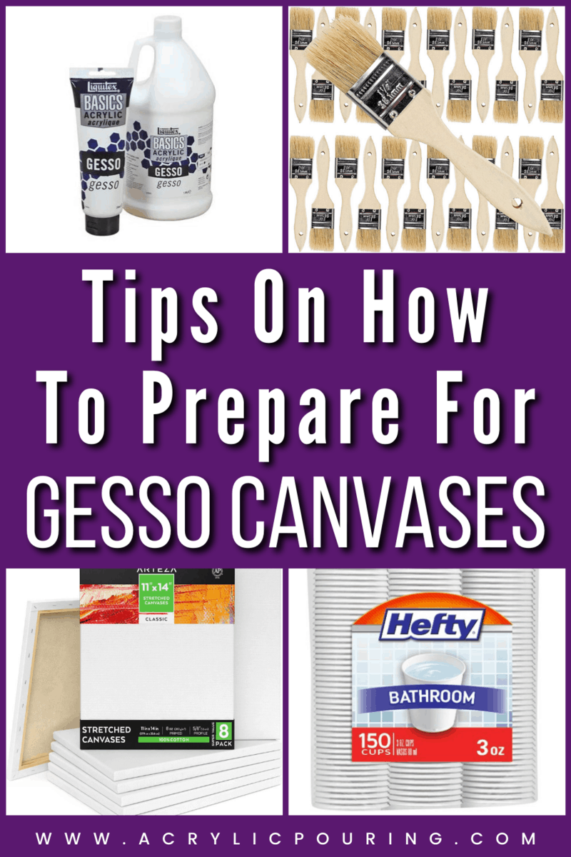 Why and How to Gesso Canvases Before Pouring