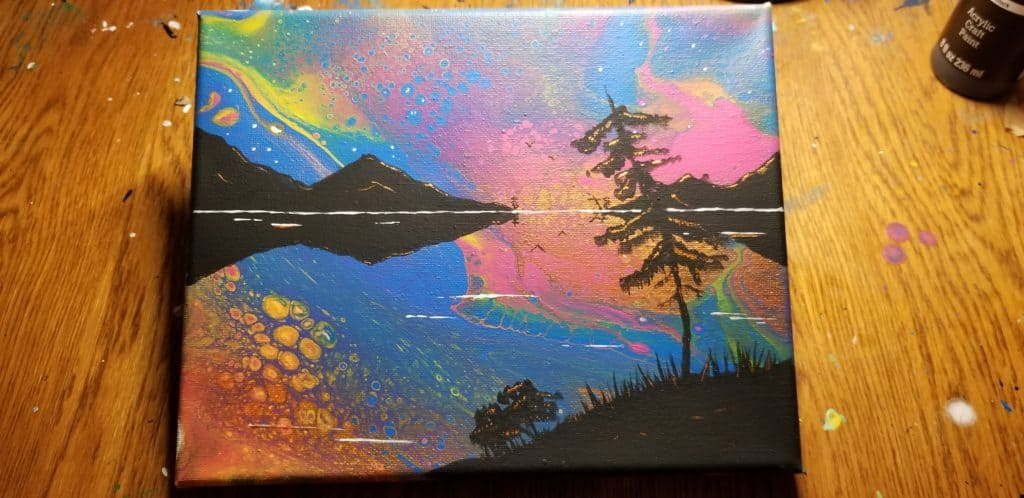 How To Paint Landscapes Onto Your Acrylic Pours