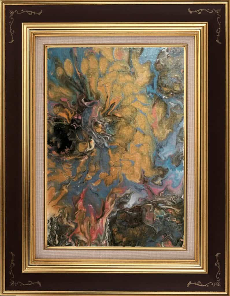 Gold Floral H