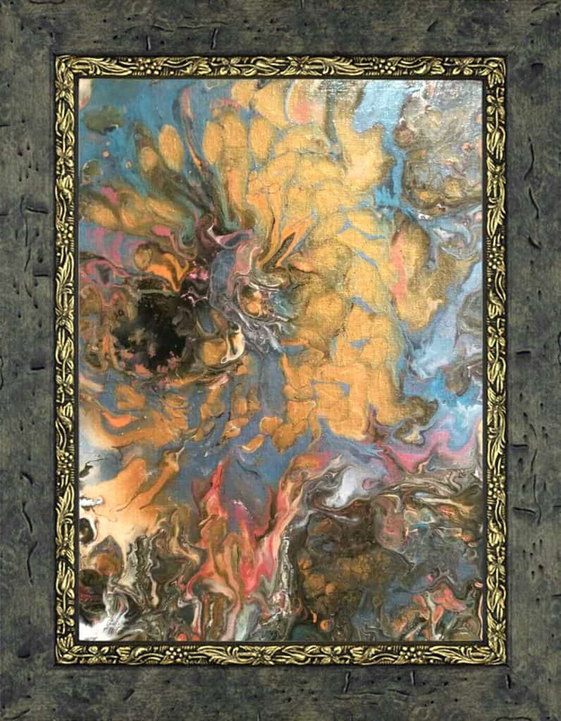 Gold Floral Orig paint