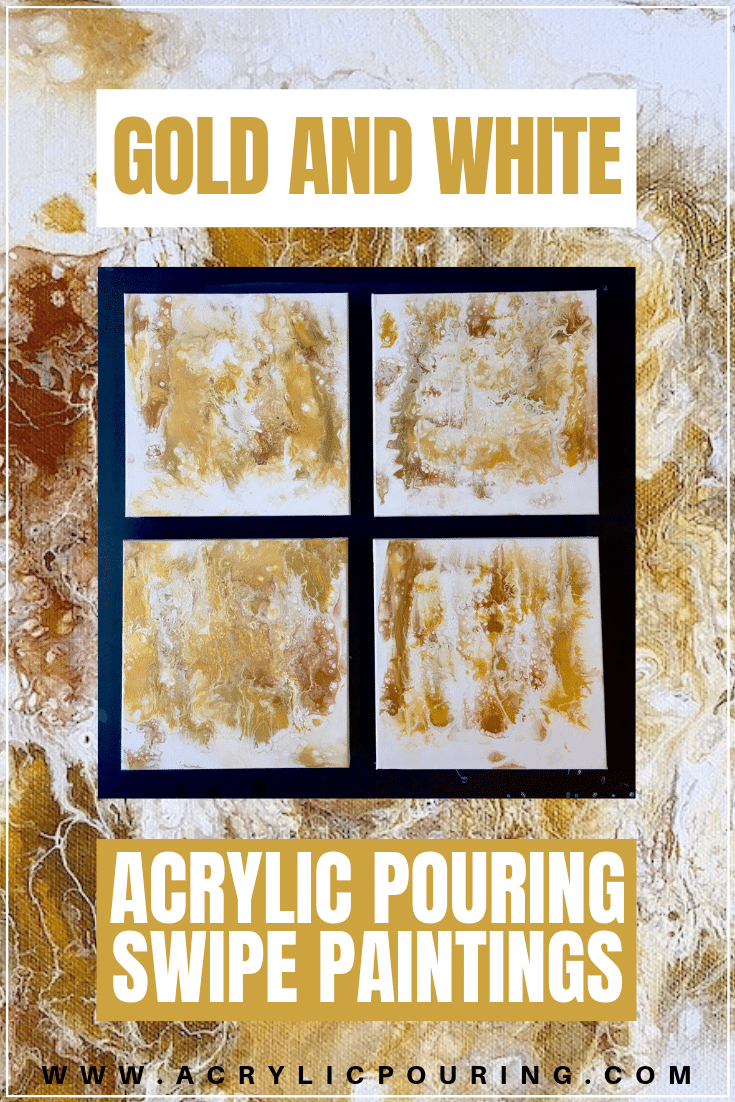Outside My Comfort Zone: Golds and Neutrals Get the Swipe Treatment in This Four-Panel Pour