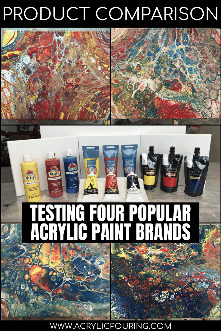 Product Comparison: Testing Four Popular Acrylic Paint Brands