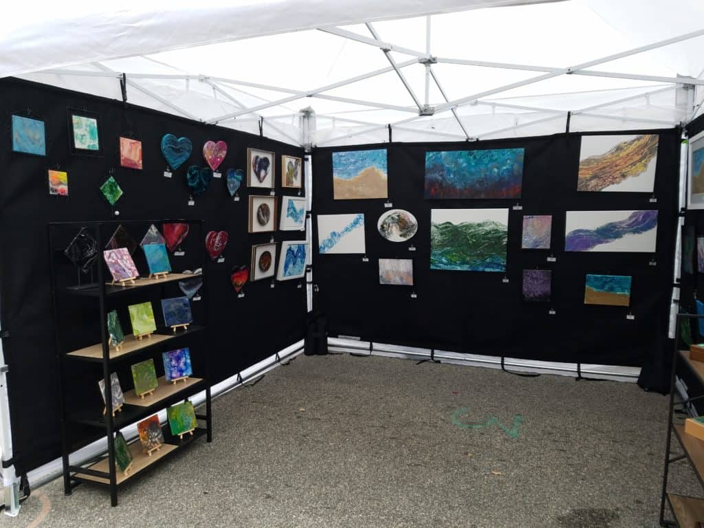 How your booth should look at an art festival