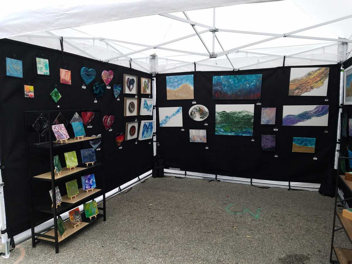 How To Sell At Art Shows And Festivals Acrylicpouring Com