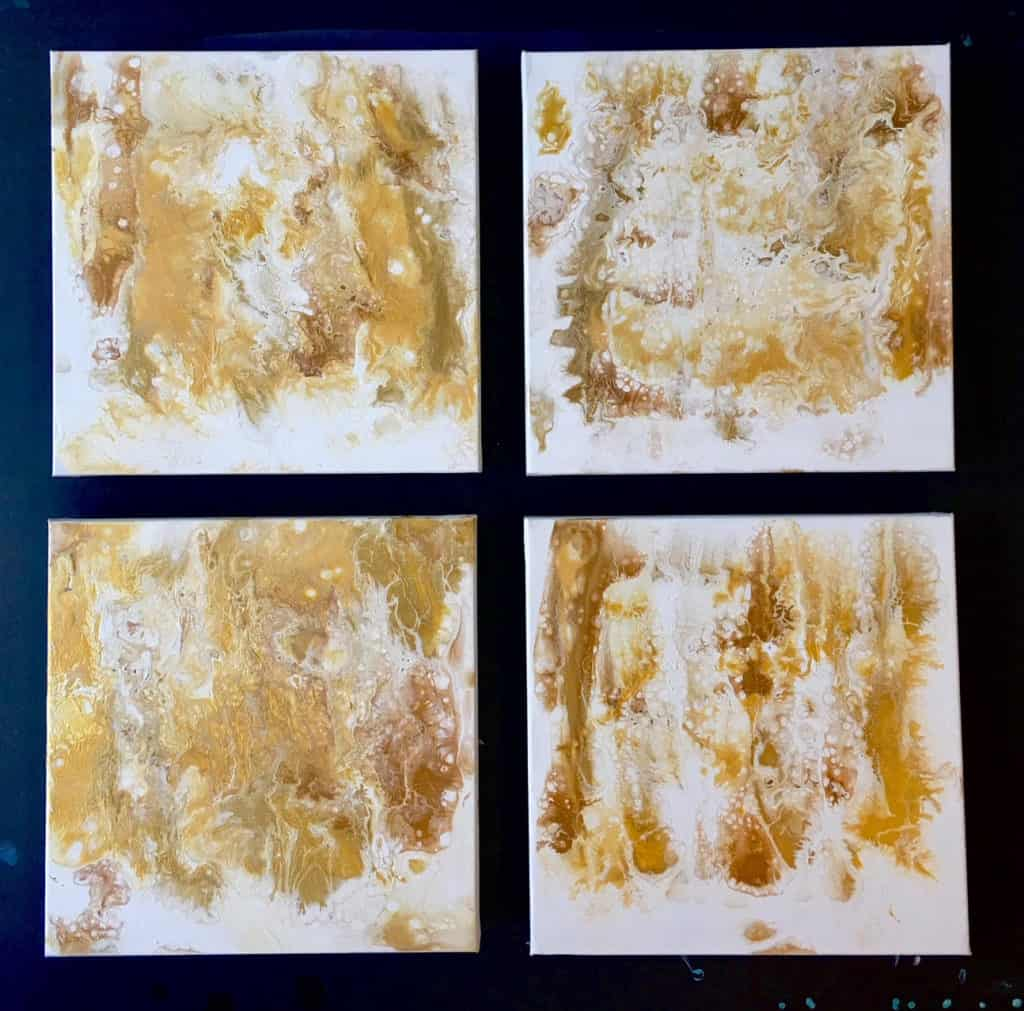 "The end result - All four 12 x 12"" canvases together"