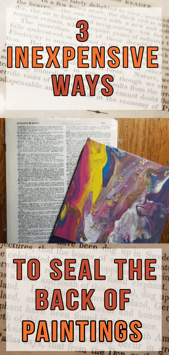 Dictionary Pages, Old Sketches, and More Creative Ways to Seal the Backs of Paintings