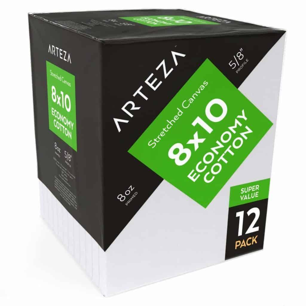 Arteza 8x10 canvas pack