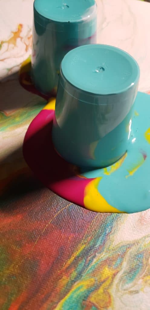 how to repour acrylic pouring