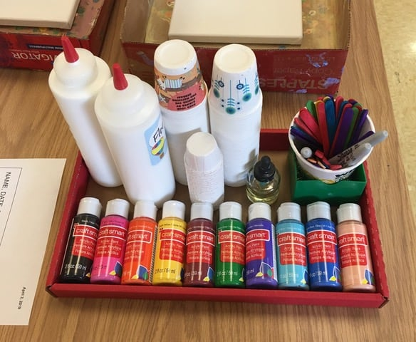 Group Paint Pour Station