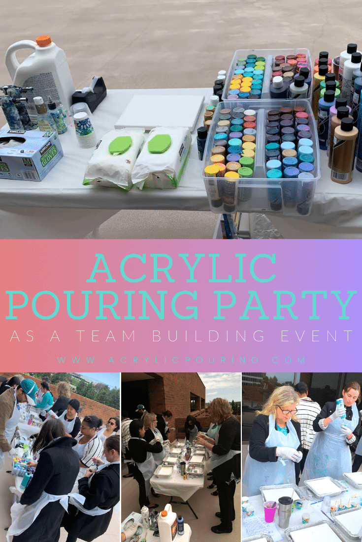 How to Make Over $100 Per Hour Hosting Acrylic Pouring Events