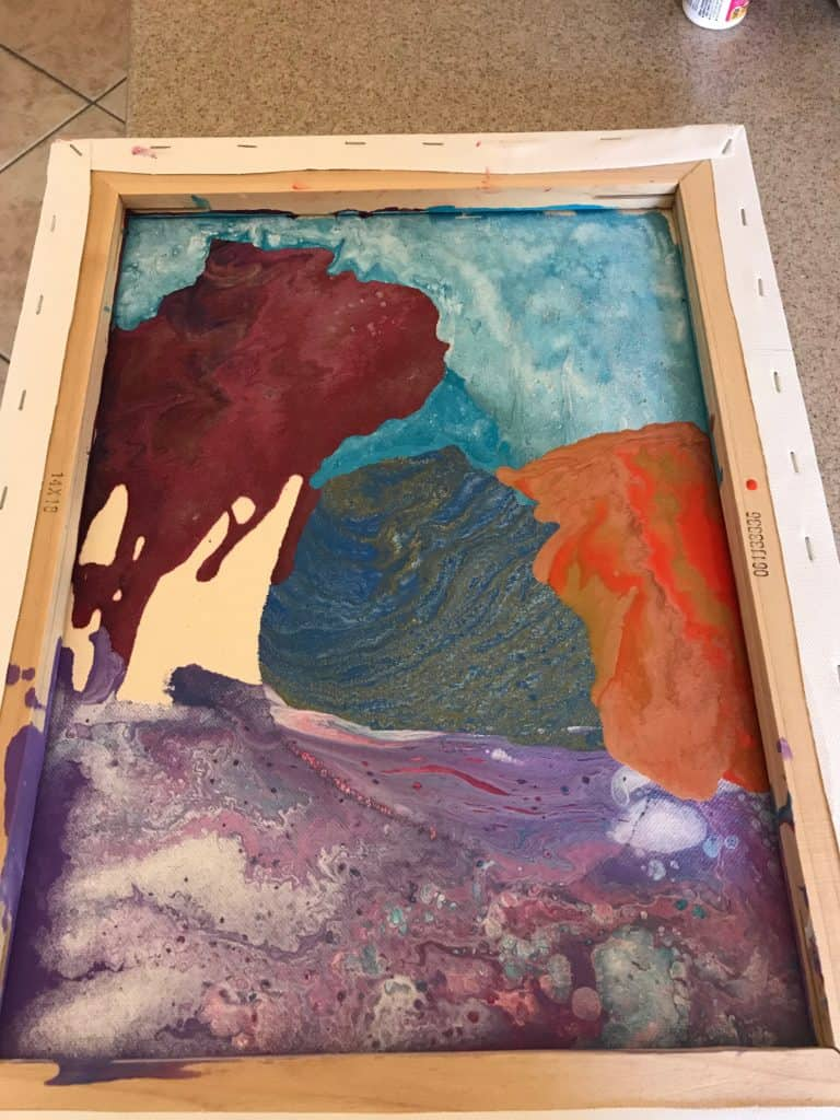 Acrylic Pouring Collage