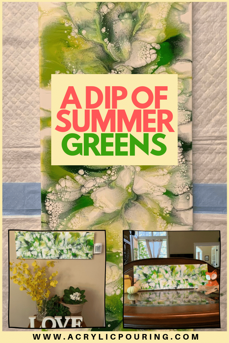 A dip of Summer Greens