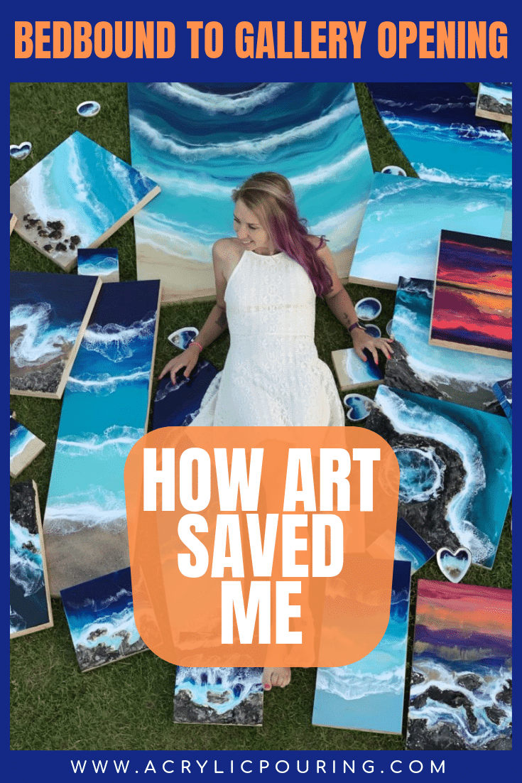 Bedbound to Gallery Opening: How Art Saved Me