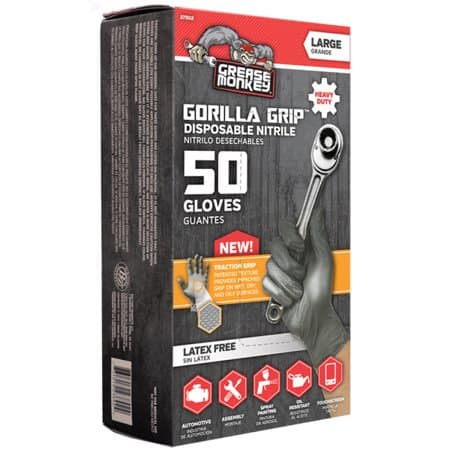 Grease Monkey Traction gorilla grip disposable gloves