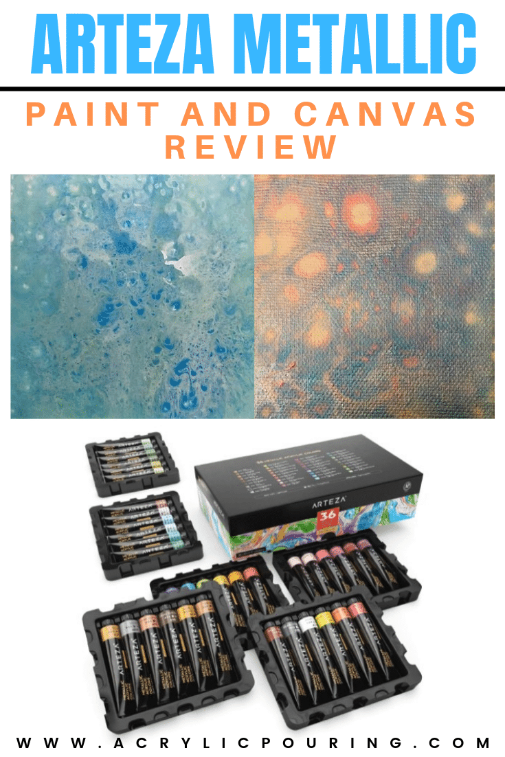 Arteza Metallic Paint and Canvas Review